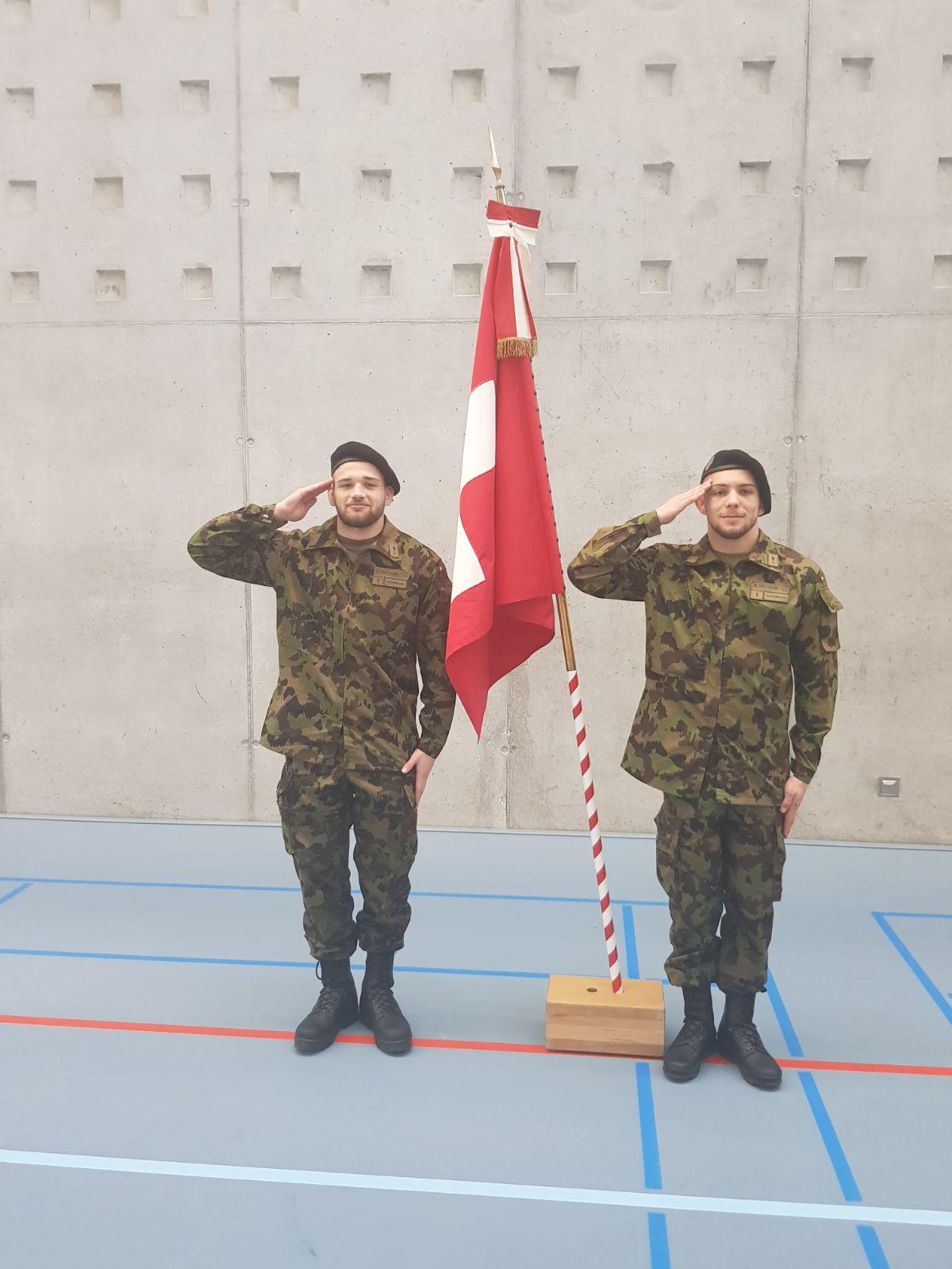 Fabio und Marc Dietsche im Dienste der Schweizer Armee