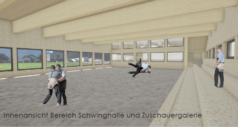 Bau der neuen Schwing- und Sporthalle Rüfli