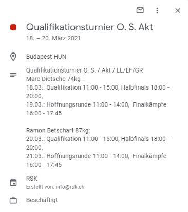 Detailinformationen im Google Kalender